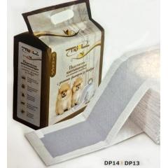DP13 Triol Подстилки впитывающие с угольным фильтром и липкими фиксаторами 60*60см -12шт