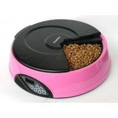 PF2P FEEDEX Кормушка автоматическая на 4 кормления для сухого корма объем 1-1,2 кг розовая