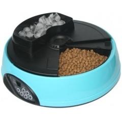 PF1B FEEDEX Кормушка автомат. на 4 кормления для сухого корма и консерв с ёмкостью для льда голубая