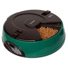 PF6G FEEDEX Кормушка автоматическая на 6 кормлений для сухого корма и консерв зеленая