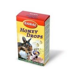 SANAL Дропсы для грызунов с медом 45 гр
