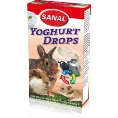 SANAL Дропсы для грызунов молочные с йогуртом 45 гр