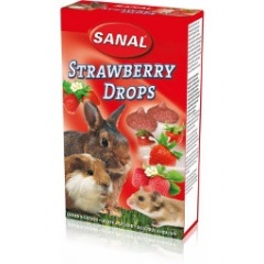 SANAL Дропсы для грызунов с клубникой 45 гр