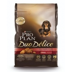 PROPLAN Duo Delice Small Adult Проплан сухой корм для собак мелких пород с лососем и рисом