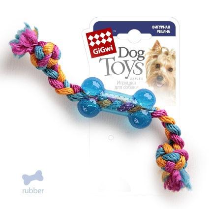 Добрый городок. 75252 GiGwi Игрушка для собак Косточка на веревке маленькая 26 см