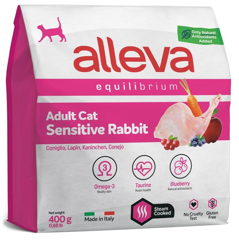 ALLEVA EQUILIBRIUM Adult Sensitive Rabbit Аллева сухой корм для взрослых кошек с кроликом