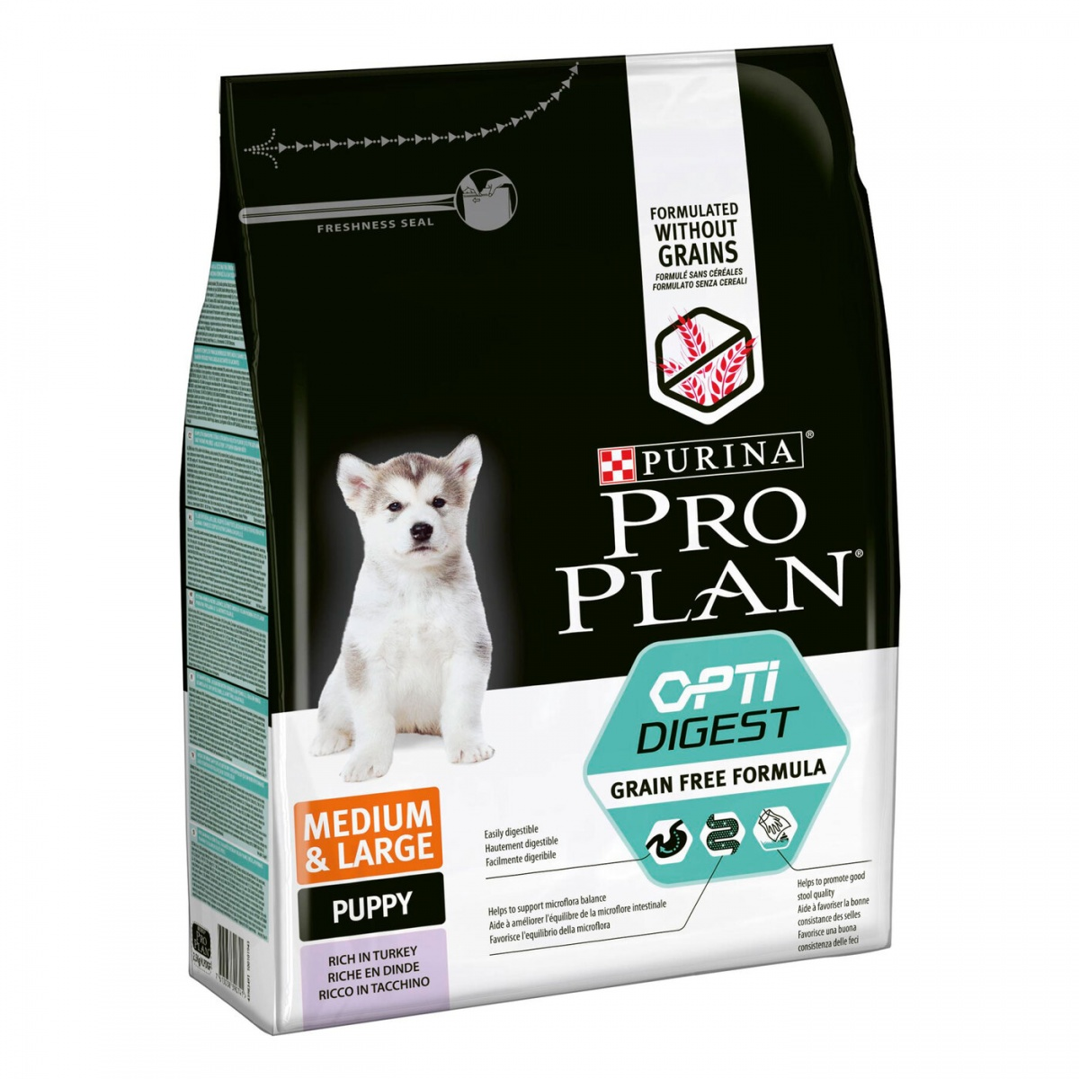 PRO PLAN Puppy Grain Free Про План беззерновой корм для щенков средних и крупных пород с индейкой