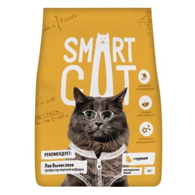 Smart Cat сухой корм для взрослых кошек, с курицей
