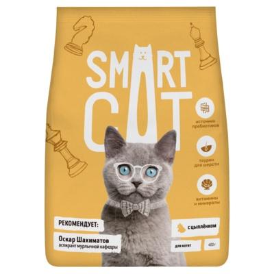 Smart Cat сухой корм для котят, с цыпленком