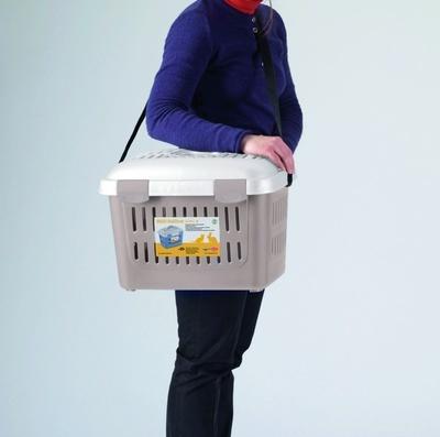 STEFANPLAST переноска MIDI Gulliver, до 5 кг, пудровая, 45х33х33 см