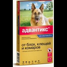 Срок до 08.2021| BAYER Адвантикс GOLD Капли от блох и клещей для собак от 25 кг 1 пипетка