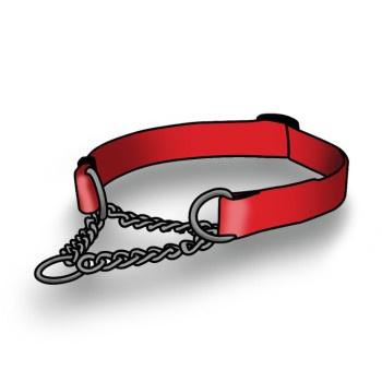 Добрый городок. HC11 ROGZ Utility Ошейник-удавка для мелких и средних собак 26-40см с цепочкой